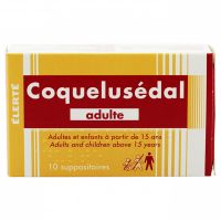Coquelusédal adulte 10 suppositoires