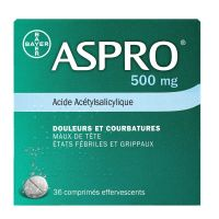 Aspro 500mg - 36 comprimés effervescents