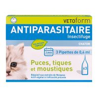 Antiparasitaire insectifuge 3x0.4ml