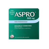 Aspro 500mg - 20 comprimés effervescents