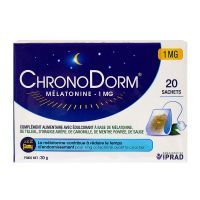 ChronoDorm mélatonine 1mg 20 tisanes