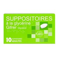 10 suppositoires à la glycérine