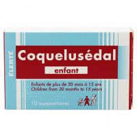 Coquelusédal enfant 10 suppositoires
