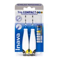 Trio Compact 2x3 brossettes interdentaires 0/1/2