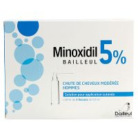 Minoxidil 5% solution cutanée 3x60ml