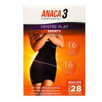 Shorty ventre plat noir S/M