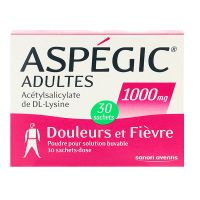 Aspégic adultes 1000 mg sachets