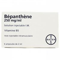 Bépanthène 250mg/ml sol injectable 6 ampoulesx2ml