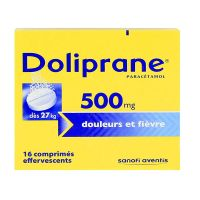 Doliprane 500mg 16 effervescents