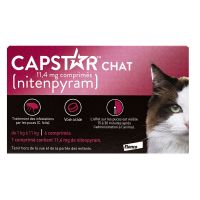Capstar chat 11.4mg 6 comprimés