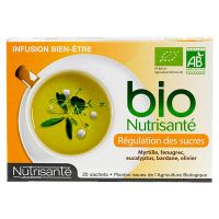 Infusion bio régulation sucre 20 sachets