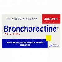 Bronchorectine adulte 10 suppo