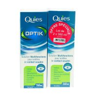 Optik solution lentilles contact 2x360ml