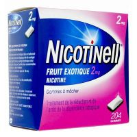 Nicotinell fruit exotique 2mg - 204 gommes
