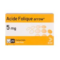 Acide Folique Arrow 5mg 20 comprimés