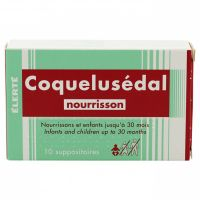 Coquelusédal nourrisson 10 suppositoires