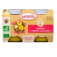 Petit pot fruits mangue & pomme 2x130g