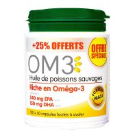 OM3 huile de poissons sauvages 150 capsules