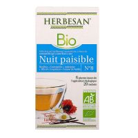 Infusion nuit paisible bio 20 sachets
