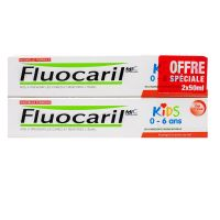 Kids 0-6 ans dentifrice gel fraise 2x50ml