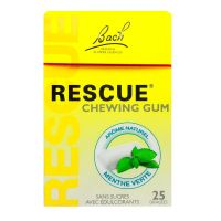 Rescue 25 chewing-gums menthe verte