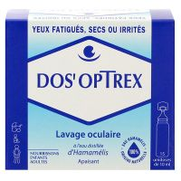 Dos'optrex lavage oculaire unidoses 15x10ml