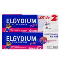 Kids dentifrice au Fluorinol grenadine 2x50ml