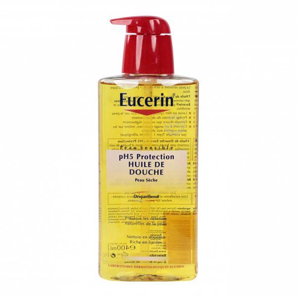 l 39 huile de douche eucerin est un soin nettoyant utilis en cas de peaux s ches afin de nettoyer. Black Bedroom Furniture Sets. Home Design Ideas