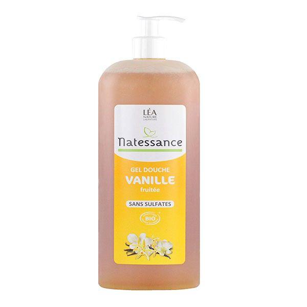 Le gel douche vanille fruit e natessance nettoie la peau tout en respectant l 39 quilibre cutan - Gel douche peau atopique ...