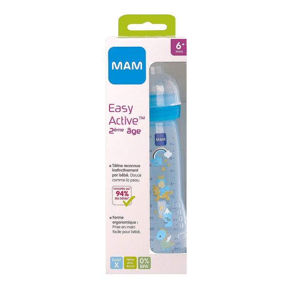 Biberon Easy Active 6m+ bleu 330ml