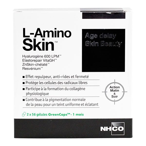 l amino skin 2x56g lules est un compl ment alimentaire anti ride et anti taches pharmaforce. Black Bedroom Furniture Sets. Home Design Ideas