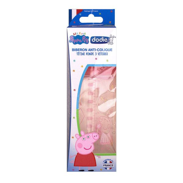 Biberon anti-colique 3 vitesses Peppa Pig 330ml