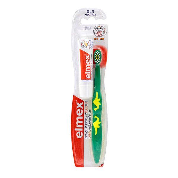 la brosse dents 0 3ans souple et dentifrice elmex sont utilis s pour un nettoyage doux et soigneux. Black Bedroom Furniture Sets. Home Design Ideas