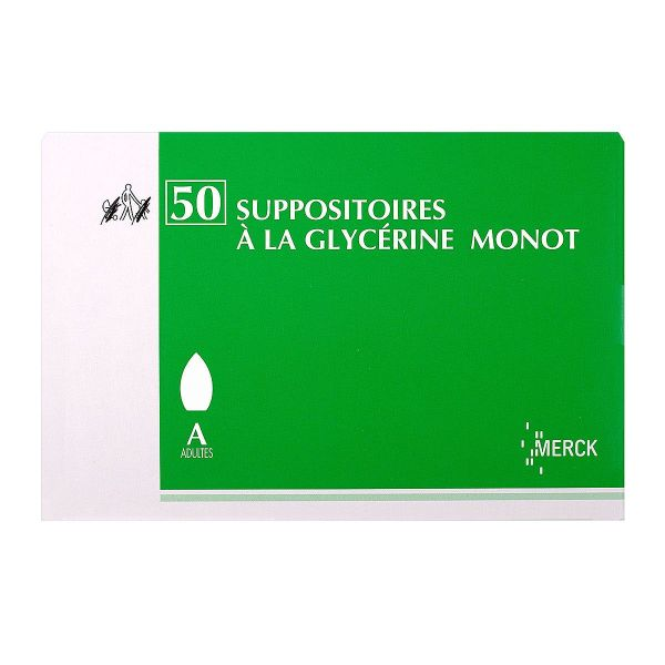 50 suppositoires à la Glycérine Monot