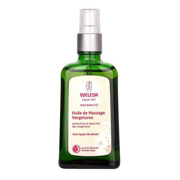 l'huile de massage vergetures weleda offre duo est un soin