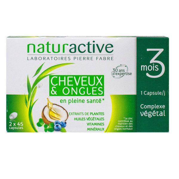 Cheveux et ongles 2x45 capsules