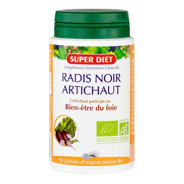 les gélules de radis noir et d'artichaut bio super diet