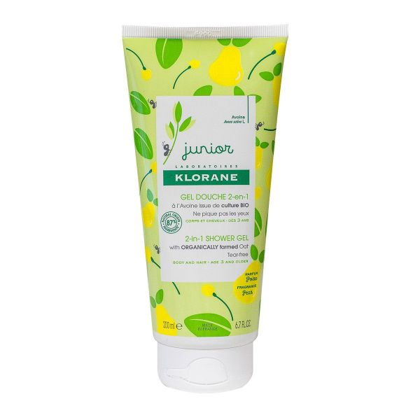 Junior gel douche 2en1 poire 200ml
