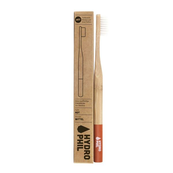 Brosse à dents bambou medium rouge
