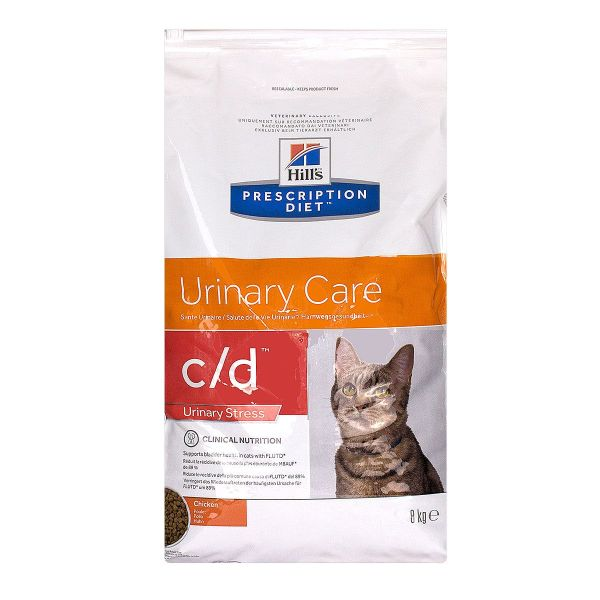 Chat c/d Urinary Care Urinary Stress poulet 8kg