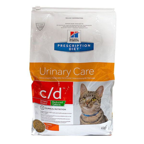 Chat c/d Urinary stress Reduced Cal poulet 4kg