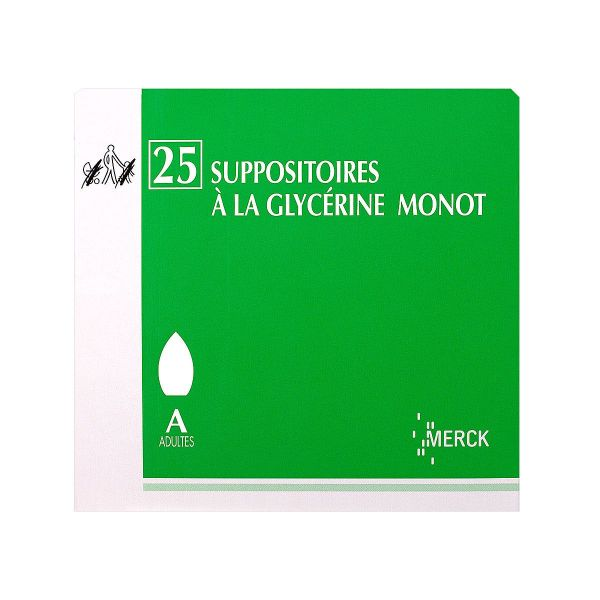 25 suppositoires à la Glycérine Monot