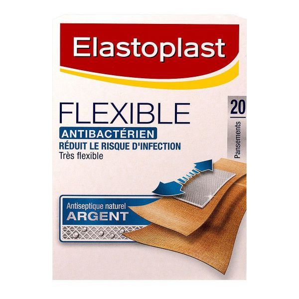 20 pansements antibactériens Flexible